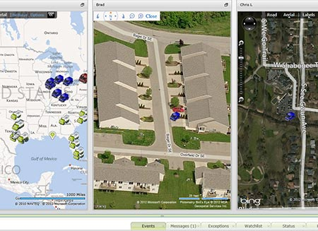 gps fleet mapping software feature in Fleet Director.