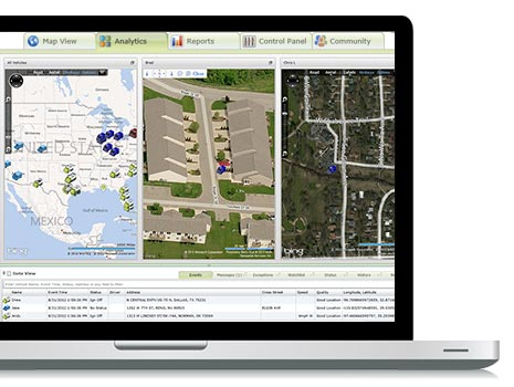 Displays vehicle location in multi gps tracking views for optimal fleet management.