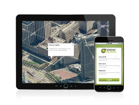 Fleet director app for mobile devices.